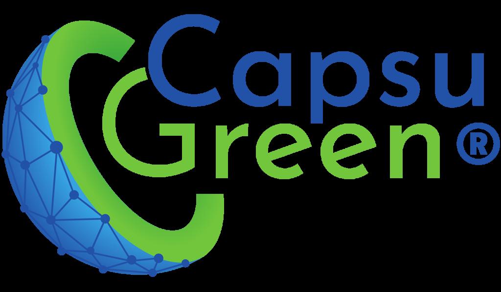 Logo CapsuGreen, marque de Nutrixeal, technologie exclusive de micro-encapsulation